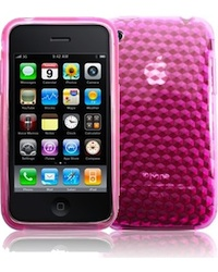 coque gel silicone iphone 3 3G 3GS pas cher rose miniature categorie