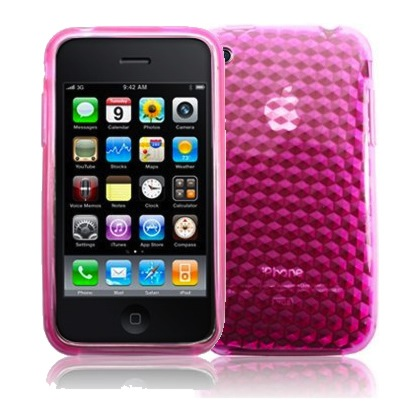 coque gel silicone iphone 3 3G 3GS pas cher rose