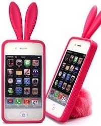 coque lapin 3D pour iphone 4 pas cher rose miniature